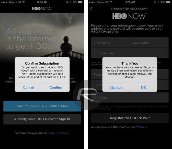 Hbo now 1 month trial