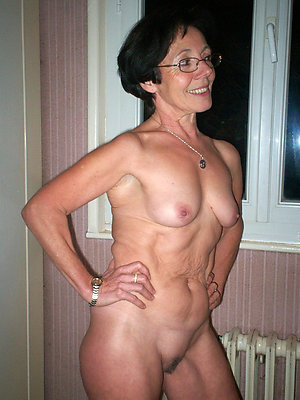 Old lady nude small tits