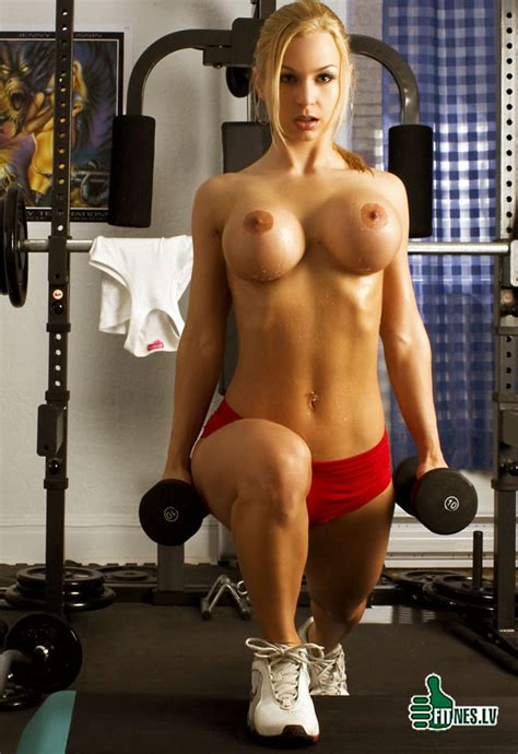 Sexy girls working out naked